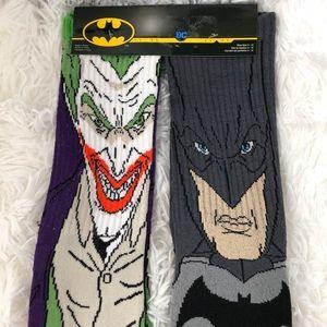 Batman Joker DC Comics men's novelty socks NWT